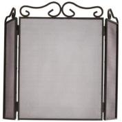 Bakaware Black 3 Fold Fire Guard / Screen / Panel / Folding / Fireplace / Sparkguard