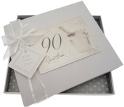 White Cotton Cards 90th Birthday Champagne and Bucket Guest Book