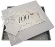 White Cotton Cards 100th Birthday Champagne and Bucket Guest Book