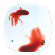 Stone Zen INC38545 Yume No Yume Red Oil Burner with Fish Motif, 8 x 8 x 1 cm