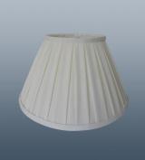 Enya 14cm Ivory Box Pleat Clip On Lampshade