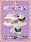 Fridge Magnet - Keep Calm Eat Cupcakes - Gift Decoration 10366