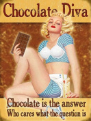 Original Fridge Magnet - Chocolate Diva - Pin up - Fridge Magnet Kitchen Decor Gift 80132