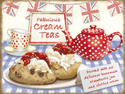 Fridge Magnet-Cream Teas-Gift Decoration 10355