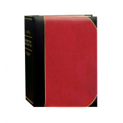 Pioneer Photo Albums BT-68 100-Pocket Leatherette Cover Ledger Style Le Memo Photo Album, 15cm by 20cm , Red and Black