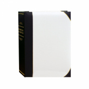 Pioneer Photo Albums BT68 100Pocket Leatherette Cover Ledger Style Le Memo Photo Album, 15cm by 20cm , White and Black