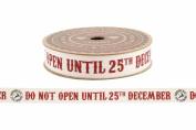 5m Reels of Vintage Cotton Christmas Ribbon Christmas Shabby Chic Gift Wrap Ribbon Decorations