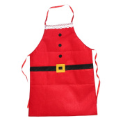 chendongdong Kitchen Bar Decor Santa Claus Red Non-woven Christmas Family Party Aprons