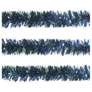 Blue & Green Chunky Tinsel Christmas Garland 100mm x 2m (Each)