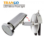 Trango-Brilon TG2248-018 LED Bathroom Mirror Light with 1x GU10 Power SMD LED LM, Chrome Design with On/Off Switch