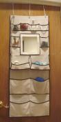 Over the Door Organiser W/mirror. 17.5 W X 50 H , # 29222