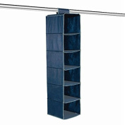 Clothes Organiser - 6 Pocket - Blue