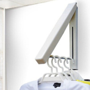 Hanger Folding Clothes,MKQPOWER 1pc Durable Hanger Stainless Steel Folding Wall Hanger Mount Clothes Foldable Hangers