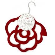 Red Rose Scarf - Belt or Tie Hanger