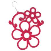 Scarf Hanger, Scarf Rack - Flower Design - Pink