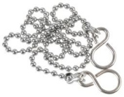 PLUG BALL CHAIN CHROME PLATED 300MM D02096 By DURATOOL