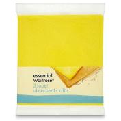 Super Absorbent Cloths essential Waitrose 3 per pack