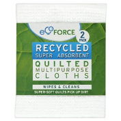 Ecoforce Recycled Multi Purpose Cloths 2 per pack