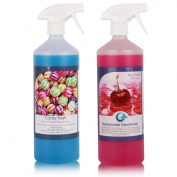 2 Pack of THE CHEMICAL HUT® Cherry & Candy Kennel Bactericidal Deodoriser for Pet Training- Kills Smells from Urine, Vomit & Feaces
