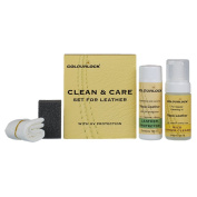 Leather Clean & Care Kit - 125ml Mild Leather Cleaner & 150ml Leather Protector for cleaning & protection of car & furniture leather against general wear & tear.