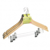 Oryx - Pack of 3 Wooden Hangers with Clasps