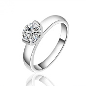 SunIfSnow High Quality Channel Setting Single Cystal Propose Marriage Rings
