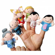 Susenstone® 6Pcs Soft Family Member Puppet Baby Finger Plush Toys