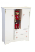 Amish-Made, Handcrafted Wooden Doll Furniture - Deluxe Wardrobe
