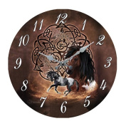 Horse Celtic Stallion Paint 34cm Wall Clock Round Plate By Brigid Ashwood