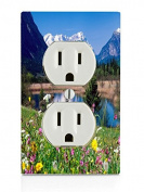 Mountain scene Electrical Outlet Plate