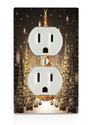 Christmas Tree Electrical Outlet Plate