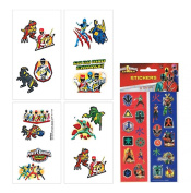 Power Rangers Kids Temporary Party Favour Tattoos! Plus Bonus Power Rangers 8ct Sticker Sheets
