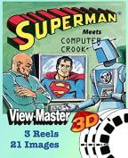 ViewMaster Set SUPERMAN Meets Computer Crook - 3 Reels