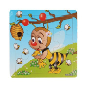 AutumnFall® Wooden Kids Jigsaw Toys for Children Education and Learning Puzzles Toys Honeybee