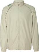 adidas Golf Men's 3-Stripes Full-Zip Jacket - ECRU - S Men's 3-Stripes Full-Zip