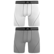 adidas Men's Athletic Stretch 2-Pack Boxer Brief