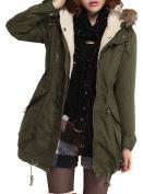 VonFon Womens Winter Warm Thicken Fleece Jacket Hooded Parka Coat