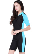 Micosuza Swimsuit for Women Design One Piece Short-sleeve Surfing Suit Sun Protection