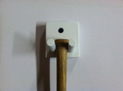 Wood Single Bat Rack Display Holder Meant to Hold 1 Mini Size Bat