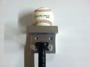 Baseball Bat Rack and Ball Holder Display Meant to Hold 1 Full Size Bat and 1 Baseball Silver