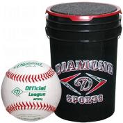Diamond 22.7l Ball Bucket with 30 DOL-A Baseballs, Black