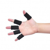 10 Pic BLACK Compression Basketball Fingers Sleeve, One Size