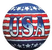 USA Theme Patriotic Red, White & Blue Regulation Size Basketball