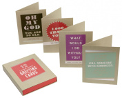 C.R. Gibson Classic Note Card Assortment, 16-Count