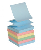 School Smart Pop Up Self Stick Notes - 7.6cm x 7.6cm - 12 Pads of 100 Sheets - Assorted Pastels