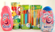Crayola & Mr Bubble Bath Time Fun Gift Set Featuring