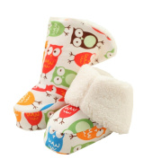 Pretty Winter Soft Baby Shoes Durable Cotton Warm Sock Colourful Owl