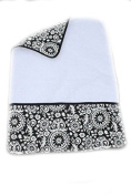 aBaby Changing Pad Mat, Medallion Black and White