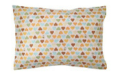 """100% Cotton TODDLER PILLOWCASE in """"Hearts"""" - Hypoallergenic - 200 Thread Count - Percale - Envelope Style - Super Soft - Fits all 12x16, 13x18, 13x19 Pillows - MADE IN THE USA"""
