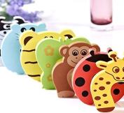 GroovyApple® 7 PCS Cushion Children Safety Finger Pinch Cartoon Animal Foam Door Stopper